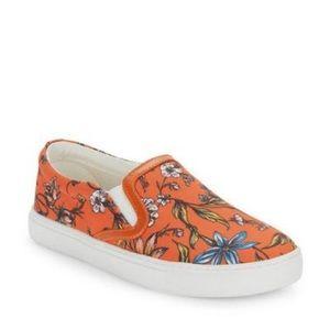 Orange floral Sam Edelman sneakers